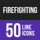 Firefighting Line Inverted Icons