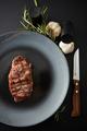 Juicy steak medium rare beef with spices