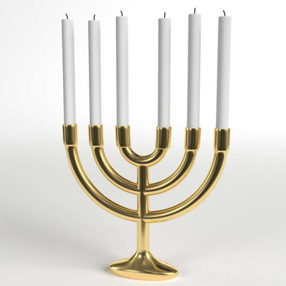 Menorah six branches lampstand - 3DOcean Item for Sale