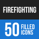 Firefighting Blue & Black Icons