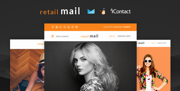 Retail Mail - Responsive E-mail Templates set + Online Access