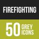 Firefighting Greyscale Icons
