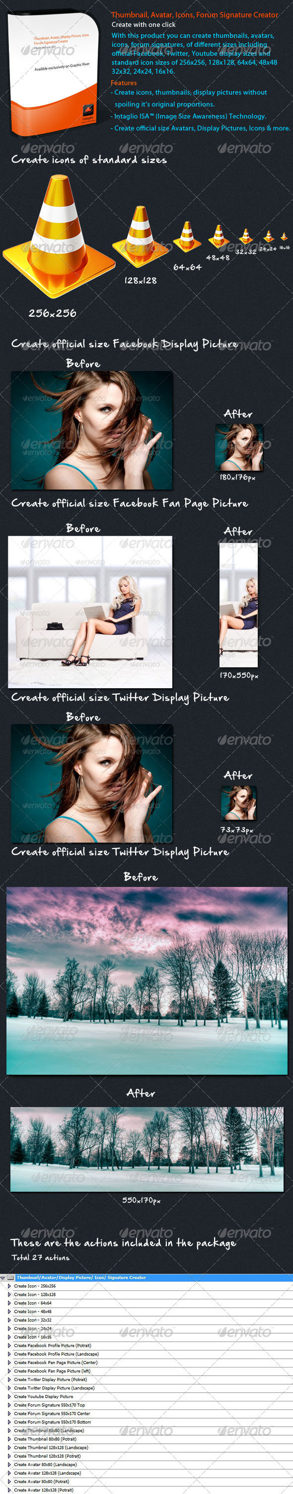 GraphicRiver Thumbnail Avatar Signature Creator 305460