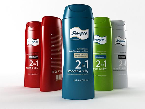 shampoo bottle - 3DOcean Item for Sale