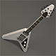 Flying V Electro Guitar