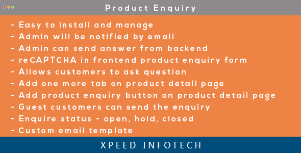 Magento 2 Easy Product Enquiry