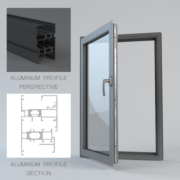 Aluminum_Window_ - 3DOcean Item for Sale