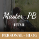 Master PB - Personal Blog HTML Template