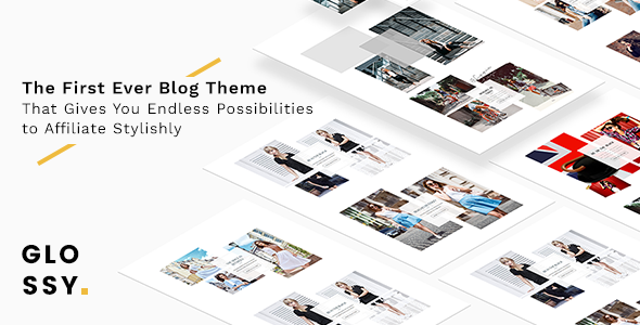 Download Glossy - Fashion Blog Theme for Stylish Affiliation nulled download