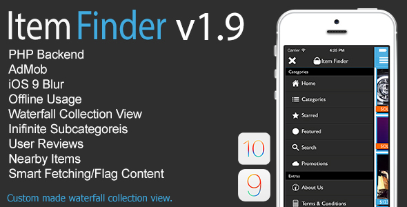 Item Finder MarketPlace Full iOS App v1.9 - CodeCanyon Item for Sale