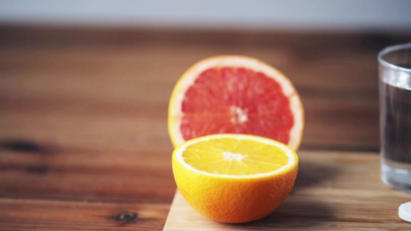 Download Orange, Grapefruit And Glass Of Water With Pills nulled download