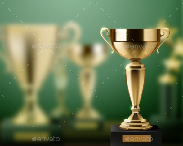 Graphicriver Trophy Awards Realistic Background 18463675