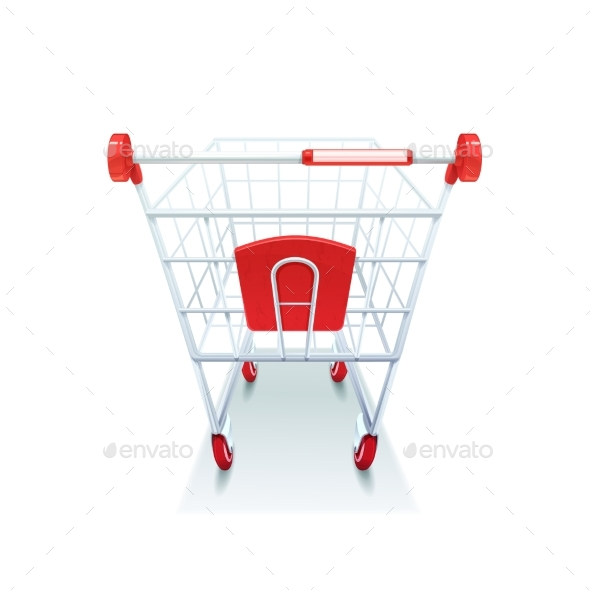 Graphicriver Supermarket Grocery Shopping Cart Realistic Image 18463698
