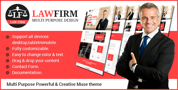 LawFirm - Multipurpose Muse Theme