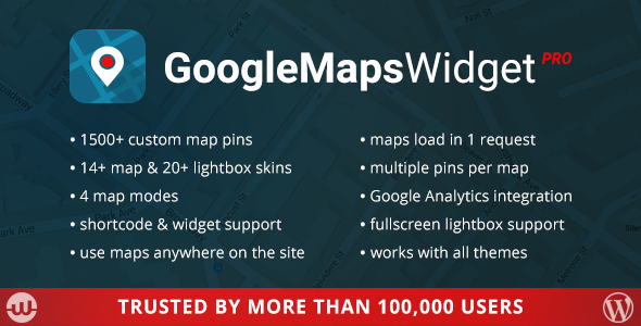 Google Maps Widget PRO - CodeCanyon Item for Sale