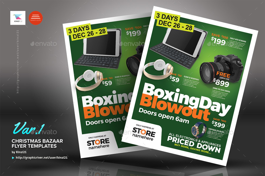 Boxing Day Sale Flyer Templates by kinzi21 – Sales Flyer Template