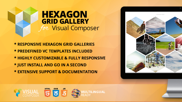 Hexagon Grid Gallery Addon for Visual Composer - CodeCanyon Item for Sale