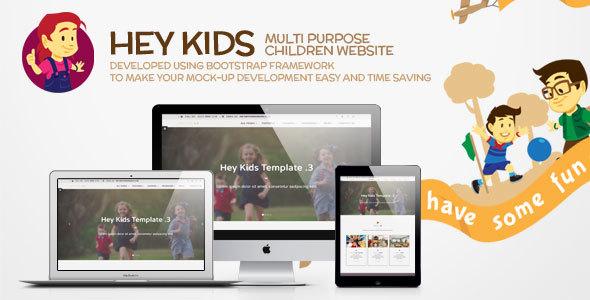 Hey Kids - Responsive Multipurpose Children Web