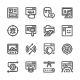 Set Line Icons of Web Development