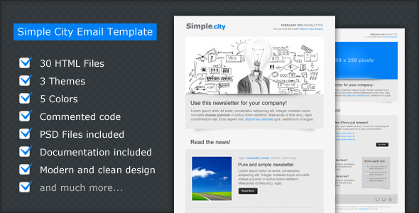 Simple City - Email Template - This is a preview image of this email template