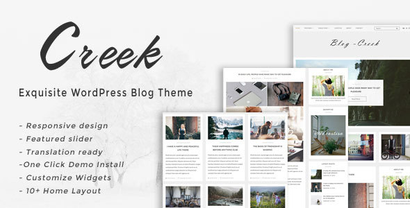 Creek - Exquisite WordPress Blog Theme