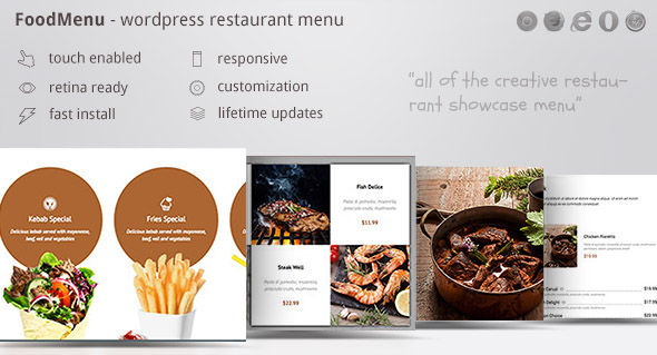 Download FoodMenu - WP Creative Restaurant Menu Showcase Pack nulled download
