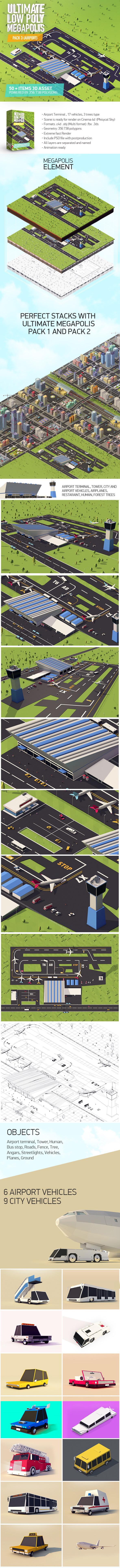 Ultimate Megapolis Pack 3 (Airport) - 3DOcean Item for Sale
