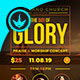 Day of Glory Gospel Concert Flyer Template