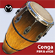 Conga Drum - Real Time PBR