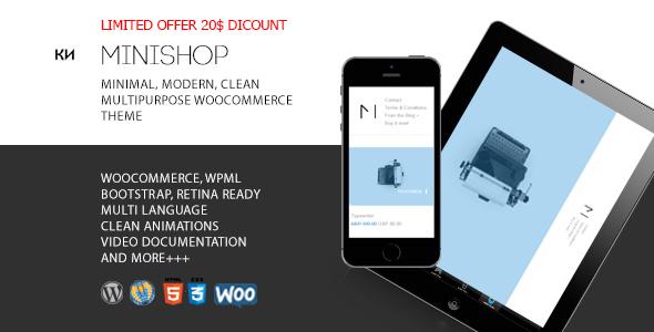 Download MiniShop - Multipurpose, Minimal e-Commerce WordPress Theme nulled download