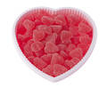 Valentine's day, birthday heart shaped box filled with red strawberry hearts