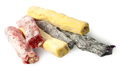 Several pieces of Turkish Delight in a row