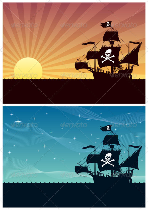 GraphicRiver Pirate Backgrounds 1820300