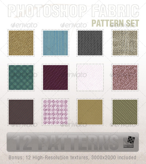 Ultimate Seamless Fabric Patterns - Textures / Fills / Patterns Photoshop