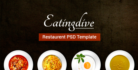 Eatingdive - Restaurant PSD Template