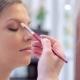 Make-up Artist Puts Make-up On Model's Eyes