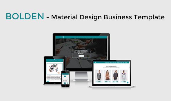 Bolden - Material Design Business Template