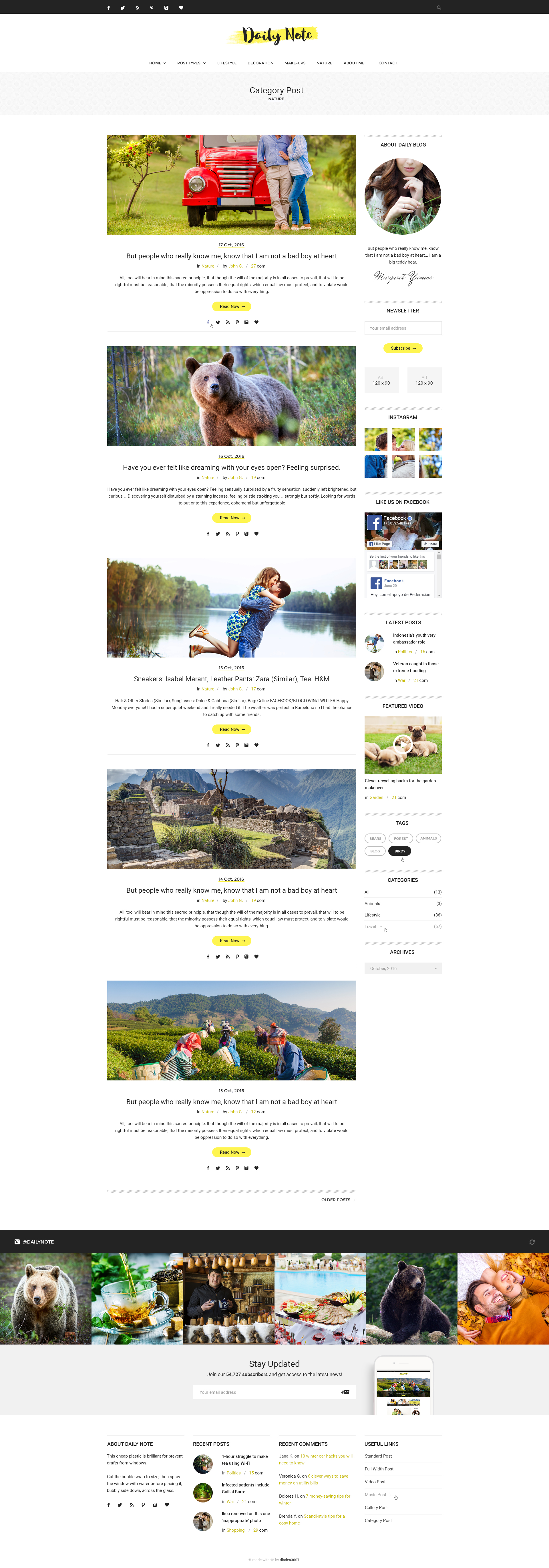Daily Note Creative Blog PSD Template by diadea3007 – Daily Note Template
