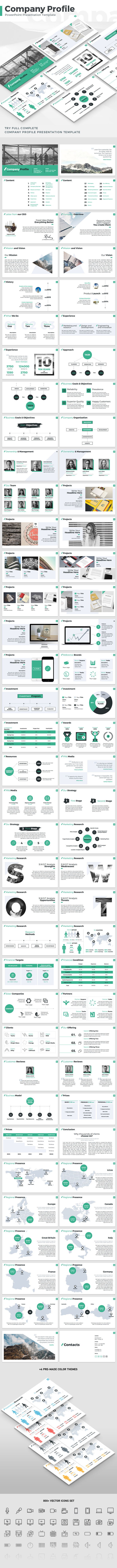 Company Profile - PowerPoint Presentation Template (PowerPoint Templates)