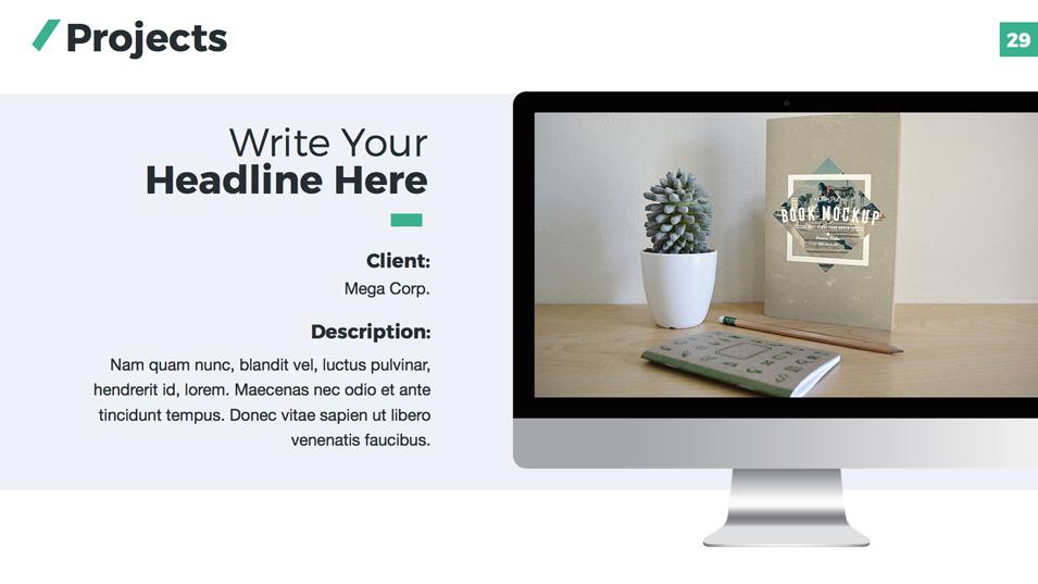 Company Profile PowerPoint Presentation Template by Jetz – Write Company Profile Template