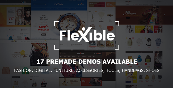 Flexible – Multi-Store Responsive Magento 2 Theme | 17 Premade Demos Available (Technology) Download