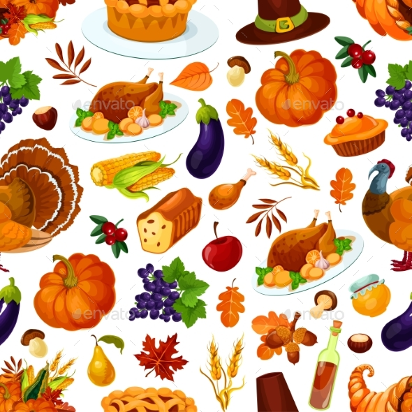 Thanksgiving Seamless Pattern Decoration