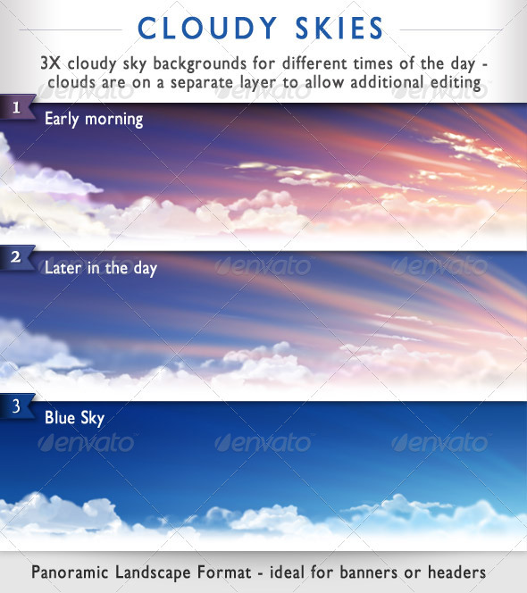 Panoramic Clouds Passing - Nature Backgrounds