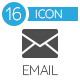 E-mail Flat Gray Icons