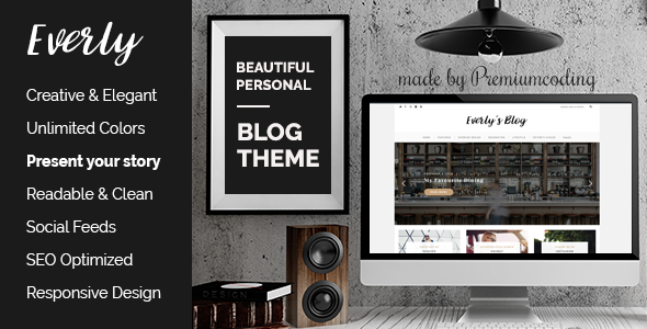 Download Everly - WordPress Blog Theme nulled download