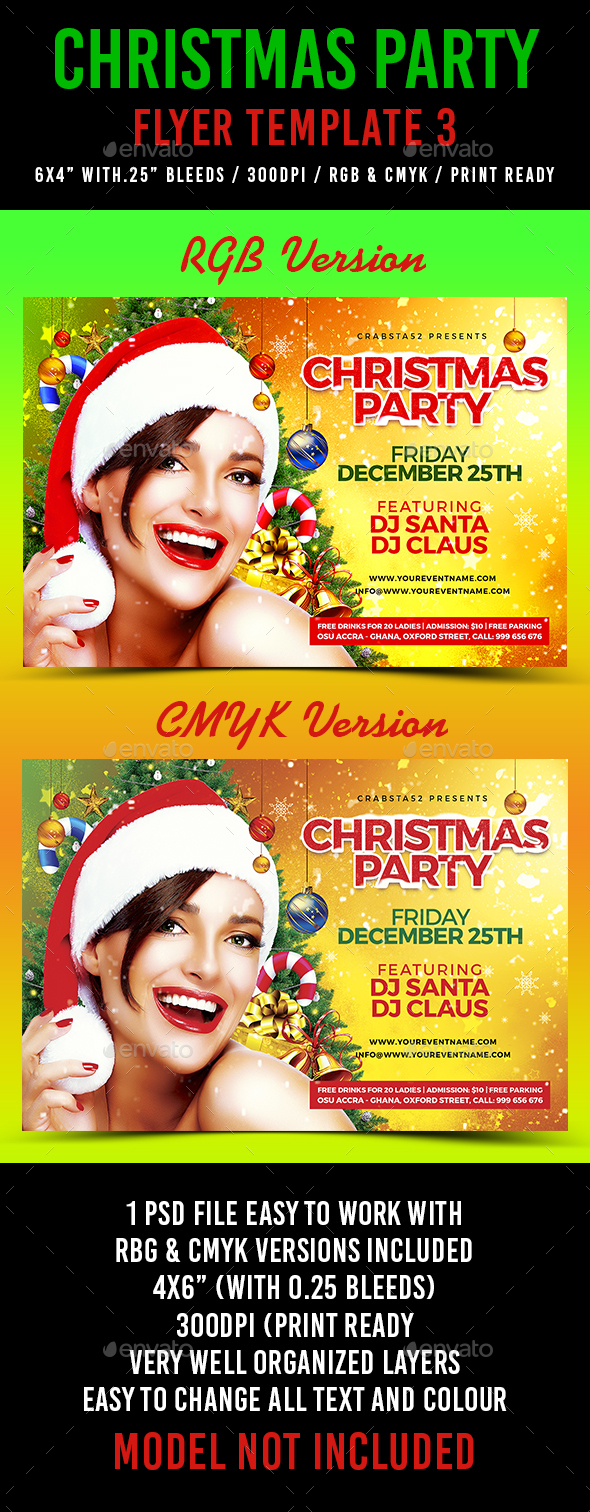 Christmas Party Flyer Template 3