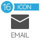 E-mail Flat Icons Set