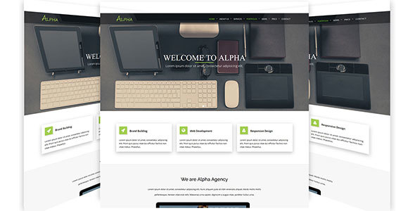 Alpha - One Page Agency HTML5 Template