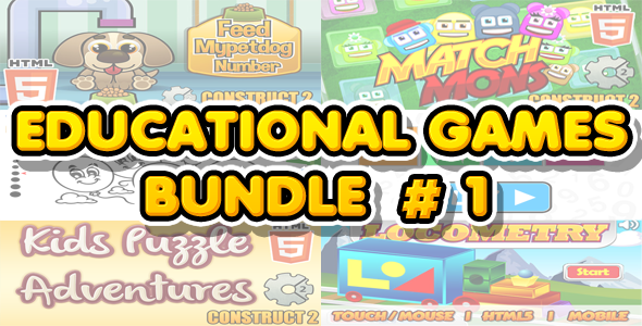 Download Educational Games Bundle #1 - 6 HTML5 Games (CAPX included)
