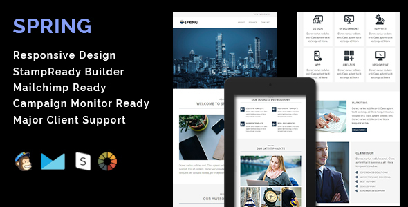 Download SPRING - Multipurpose Responsive Email Template + Stamp Ready Builder nulled download